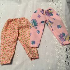 """Handmade Pajamas Pants Fits 14.5"""" Wellie Wishers Doll Girl CLothes Lot of 2pcs"""