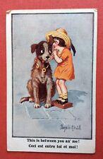 CPSM. Illustrateur Donald Mc GILL. Comique. N°3025. Petite Fille. Chien.