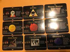 9 Different ILLUMINATI cards: Illuminati INWO CCG: 1996 One With All Edition TCG