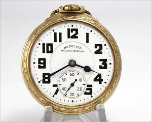 Vintage 1942 WWII HAMILTON Railway Special 992B 16s 21j Gold Filled Pocket Watch