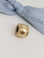 Authentic Pandora 14ct Solid Gold 14k Whisper Clip  750256