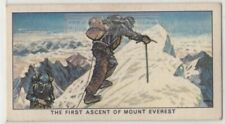 1953 First Ascent of Mount Everest Edmund Hillary Climbing  Vintage Trade  Card
