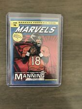 New listing 2020 Donruss Football Peyton Manning Marvels Foil Case Hit SSSP Broncos Colts
