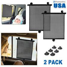 Car Truck Window Windshield Roller Blind Sun Shade Visor Cover Rear Retractable