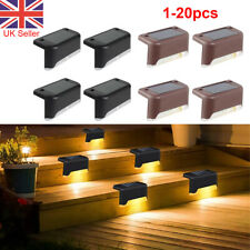 12pcs LED Solar Fence Deck Lights Waterproof Outdoor Garden Wall Stairs Lamps