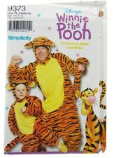 Simplicity Winnie The Pooh Tigger Child 3-8 Adult XS-XL Costume Sewing Pattern