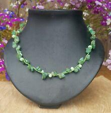 *Freedom Tree* Jade & Cats Eye Gemstone Necklace Chakra /Healing
