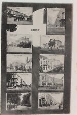 29735 AK STRYJ  Стрий UKRAINE Markt, Straßen Schule Bahnhof 1915  Oblask Lwiw