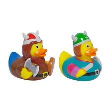 Viking Warrior Rubber Duck Set of 2 Bathtime Toys Novelty Bath Play Collectables