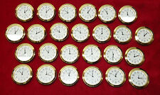Seiko Mini Insert Clock Movement LOT OF 25 NEW Quartz Battery Fit Up 1 7/16""