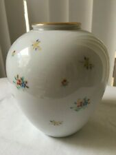 Noritake Porcelain Vase Floral Gold Tone Rim Made in Japan