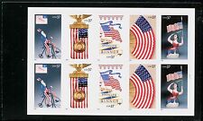 Sc # 3776-3780 (3780a) ~ Booklet Pane ~ 37 cent Old Glory Issue  (sh1eb/blu)