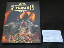 Oasis 2008 World Tour Book Concert Program Japan Ticket Beady Eye Noel Gallagher