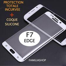 Film 3d Bord Incurvé Intégral Total Blanc Samsung Galaxy S7 Edge + Coque