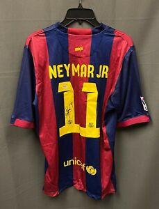 NEYMAR Signed #11 Barcelona Soccer Jersey Autograph Sz XL PSA/DNA LOA