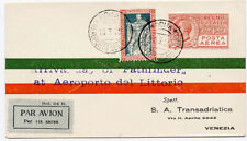 Italy 1929 First Flight Cover #202 C3 Rome to Venezia Pathfinder Arrival ME USA
