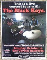BLACK KEYS 2010 Gig POSTER Portland Oregon Concert