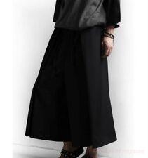 New Men''s Cotton Harem Pants Hakama Wide Leg Boho Japanese Trousers Maxi Gothic