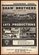 SHAW BROTHERS__Original 1973 Trade print AD / poster__Four Riders_The Delinquent