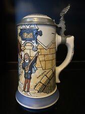 Antique Mettlach Carnival 1 Liter Beer Stein 2778