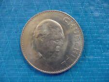 Churchill Commemorative Crown Britain British English England UK coin 1965 AU