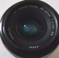 Minolta AF Power Zoom 35-80mm f/4-5.6 Lens