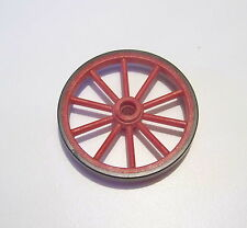 PLAYMOBIL (B732) WESTERN - Grande Roue 55mm Rouge Noire Diligence Express 3803