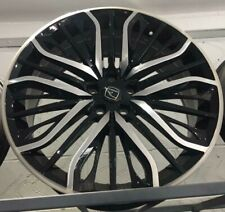 """22""""hawke vega black pol alloy wheels for range rover sport discovery vogue tyres"""