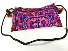 Women Handbag Thai Hmong Ethnic Floral Embroidered Purse Bohemian Shoulder Bag