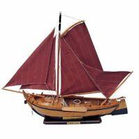 Dekoratives Schiffsmodell Segelschiff Fischerboot Holland 30 cm