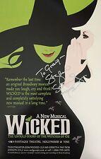 Stephen Schwartz SIGNED Wicked 14x22 Poster Window card COA