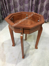 """18""""H 12"""" Dia Wooden Table Top Stand Interior Furniture Newyear Decor E571(1)"""