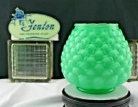 Vintage Fenton Art Glass Jacqueline Apple Green Vase in Artichoke Pattern