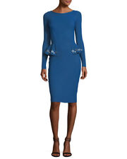 $750  LA PETITE ROBE DI CHIARA BONI GERVAISE DRESS BALTIC BLUE NWT SZ 46/10