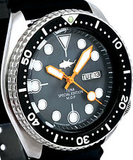 """Vintage mens watch SEIKO diver SKX mod 7S26 w/Black Mother of Pearl """"TUNA"""" dial!"""