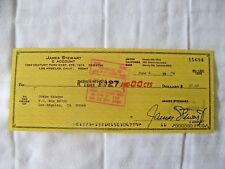 Pristine, Academy Award Winning Actor James Stewart, Personal Check Signed, 1978