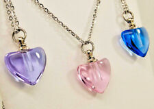 Glass Heart Cremation Urn Necklace || Ashes Keepsake || Memorial Jewelry
