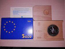 5 ECUS DE PLATA  AÑO 1990    ( MB10454 )