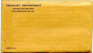 1955 Philadelphia Proof Coin Set Original Packaging  Sealed