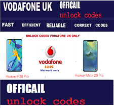 Huawei P30 Pro , P30 , Mate 20 Pro Unlock Code Vodafone UK network only Fast
