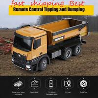 HUINA 1573 1:14 2.4GHz RC Dumping Truck Simulation Engineering Vehicle Gift