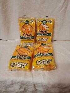 Bic Sensitive Single Blade Razor / 4 bags of 24 Razor each/ 96 Total Razors