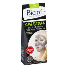 Biore 4-Single Use Packs CHARCOAL SELF HEATING ONE MINUTE MASK Purifies Pores