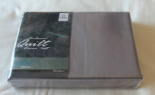 Designer Selection Grey Embossed Queen Bed Microfibre Quilt Cover Set New