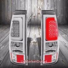 Chrome Housing Clear Lens 3D LED Tail Light For Chevy/GMC 03-07 Silverado/Sierra