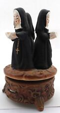 Vintage Price Rotating Music Box 3 Nuns Plays 'Dominique' Japan Vguc