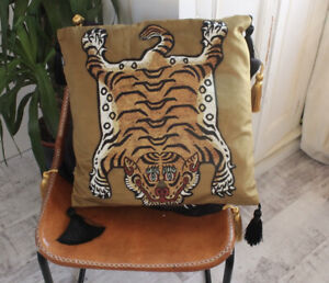 Tiger Hackney Gold Tassle Cushion Cover  House 45cmx45cm