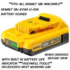 Genuine Dewalt DCB183 XR 18V 2.0Ah Lithium-Ion Li-Ion Slide Battery 18 Volt