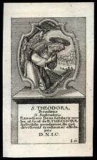 santino grabado 1700 S.TEODORA DE ALESSANDRIA