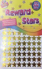 600 Teacher Reward Star Stickers Bronze Silver Gold School Home Childrens Award